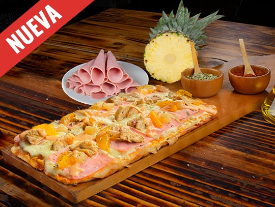 Pizza Hawaiana con Pollo